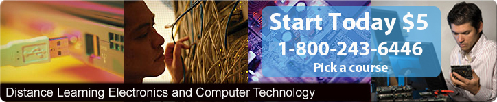 Online Courses in Electronic Troubleshooting, PC Repair and Broadcast Engineering.