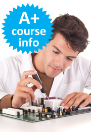 Take an A+ certification course online and learn how to service various computer technologies.